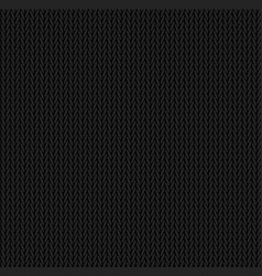 knit texture black color seamless pattern fabric vector image