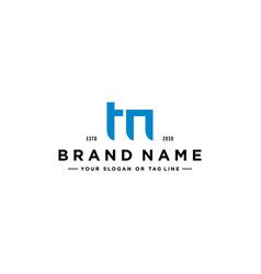 Letter tm logo design vector