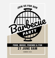 lovely barbecue party invitation design template vector image