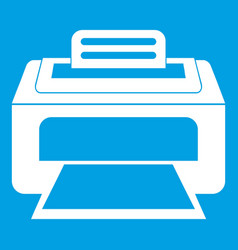 Modern laser printer icon white vector