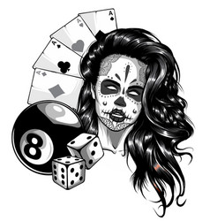 Monochromatic aces playing cards with number eight vector