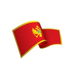 montenegro flag vector image