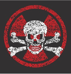 Nuclear skull symbol vector image