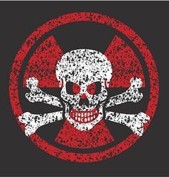 Nuclear skull symbol vector