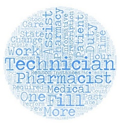 Pharmacy Technician A Closer Look text background vector image