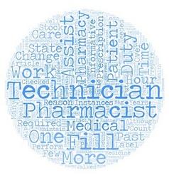 Pharmacy Technician A Closer Look text background vector