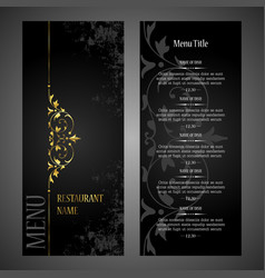 Restaurant menu design template - luxury style vector