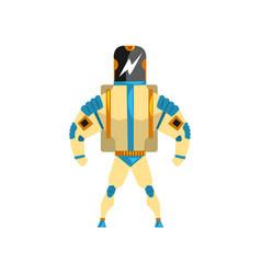 Robot cyborg superhero costume vector