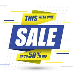 sale banner up to 50 percent off design vector image