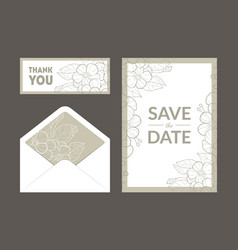 save date wedding invitation templates set vector image