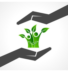 Save eco family concept vector image