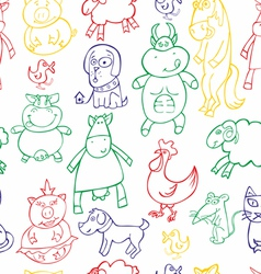 seamless animals vector image vector image