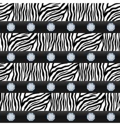 Seamless pattern Striped zebra precious stones vector image
