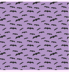 seamless pattern violet background with bat vector image