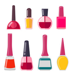 Set of different nail polish vector
