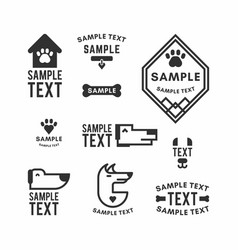 set of dog logo and icons for dog club or shop vector image