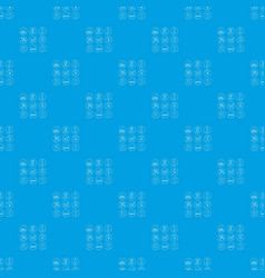 shop pattern seamless blue vector image