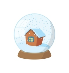 Snow globe icon cartoon style vector
