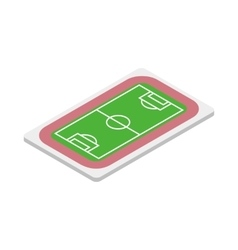Soccer field icon isometric 3d style vector image