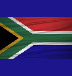south african flag flag of south african blowig vector image