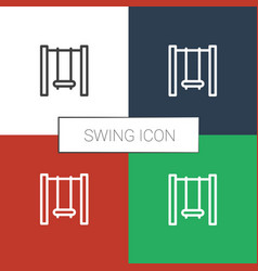 Swing icon white background vector