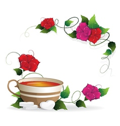Tea and sugar vector image