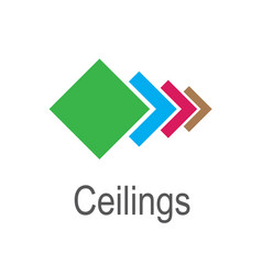 The logo of the ceilings floors vector