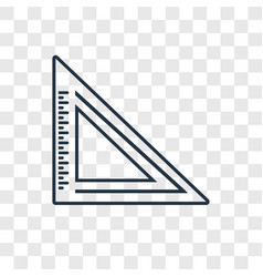 triangle ruler concept linear icon isolated on vector image