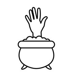trick or treat - happy halloween line image vector image