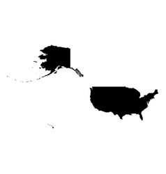 united states of america usa - solid black vector image