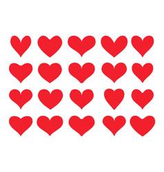 Unusual heart icons vector
