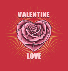 Valentine love flower vector