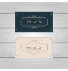 Vintage Ornament wedding invitation design vector