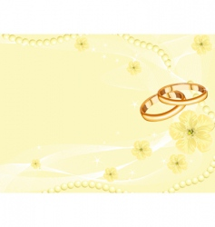 wedding rings on yellow vector image