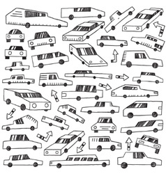 Cars - doodles set vector