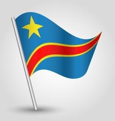democratic republic of congo flag on pole vector image vector image