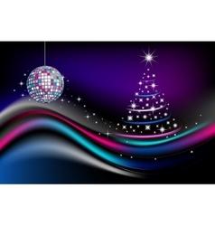 Disco new year celebration vector image