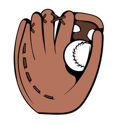 baseball glove icon icon cartoon vector image