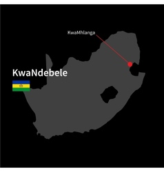 Detailed map of KwaNdebele and capital city vector image vector image