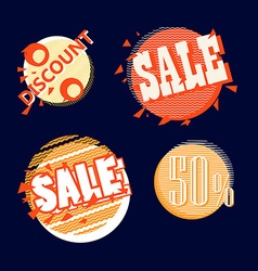 Different shopping tags collection Design template vector image vector image