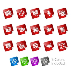 Multimedia Stickers vector image vector image