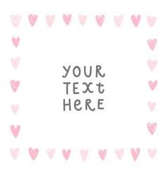 romantic hearts card vector image vector image