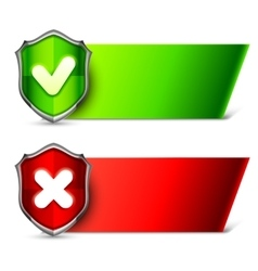 Security Banners with Shields vector image