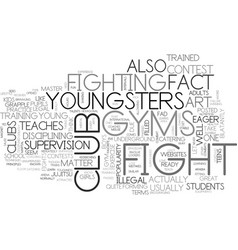 what you need to know about fight club gyms for vector image vector image