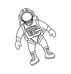 astronaut in space character vector image