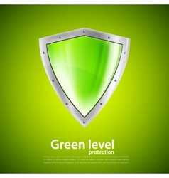 Green shield vector image vector image