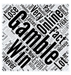 How to Increase Your Chances of Winning Word Cloud vector image vector image