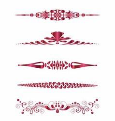 Set of Design Horizontal Elements for Border vector image