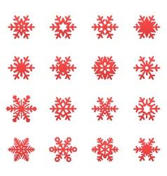 winter snowflakes set vector image vector image