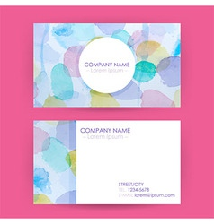 Abstract Business Card Concept Watercolor Splashes vector image vector image